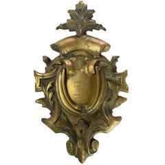 Cast Brass Victorian Door Knocker