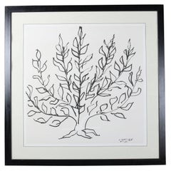 "Oversized Mid-Century Modern Classic Print of Henri Matisse's ""Le Buisson"""