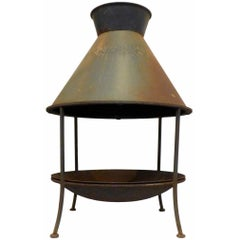 Wrought Iron and Metal Chiminea