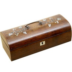 Small 19th Century Rosewood Pen Box