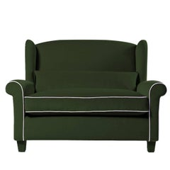 Alexander Green Armchair by Gianni G. Pellini