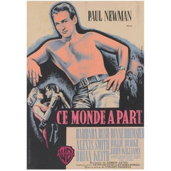 """The Young Philadelphians  / Ce Monde A Part"", Original French Movie Poster"