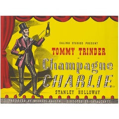 """Champagne Charlie"" Original British Movie Poster"
