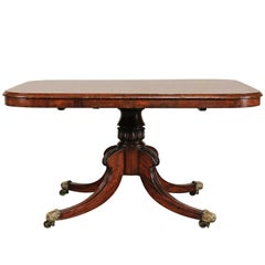 English Regency Mahogany Breakfast Table with Acanthus Leaf Detail, circa 1820