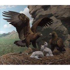 """Golden Eagles in Eyrie"" by Jay Matternes"
