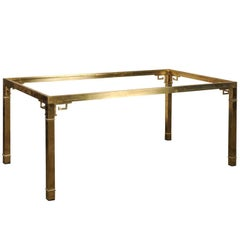 Italian Brass Dining Table in the Style of Mastercraft, circa 1970s