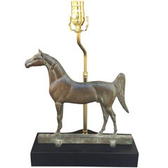 Bronze Horse by Grife-Loft Corp as Lamp on Custom Base, circa 1938