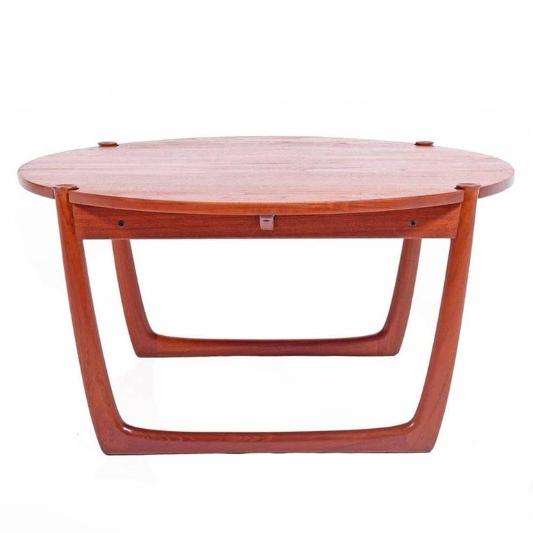 Solid Teak Coffee Table by Peter Hvidt & Orla Mølgaard-Nielsen for France & Son