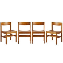 Set of four Modernist Dining Chairs, circa 1940s-1960s