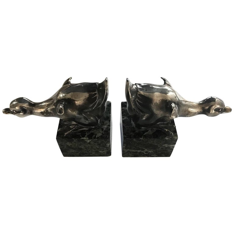Pair of Art Deco Bookends by Rischmann, 1930s For Sale