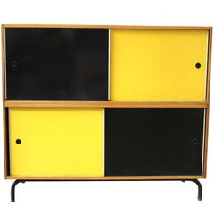 1950s Cabinet with Sliding Doors