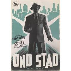 """Cry of the City"" Original Swedish Movie Poster"