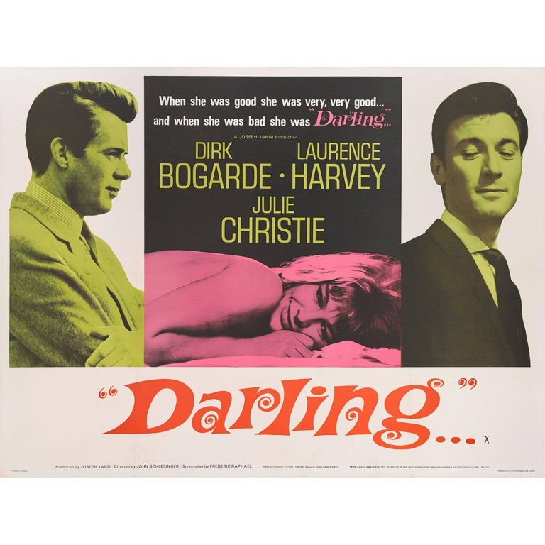 """Darling"" Original British Movie Poster"