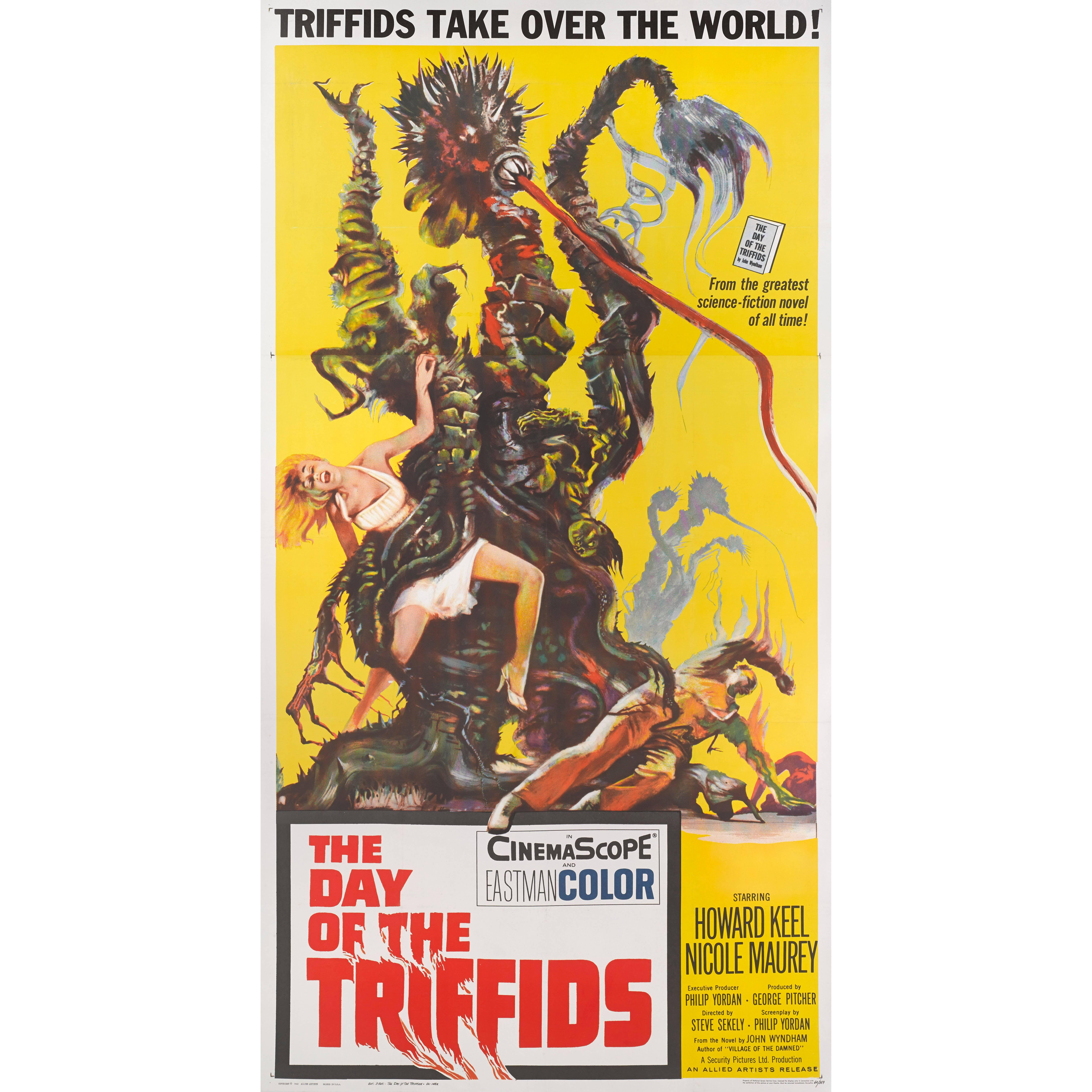 """""""The Day of the Triffids"""" Original US Movie Poster"""
