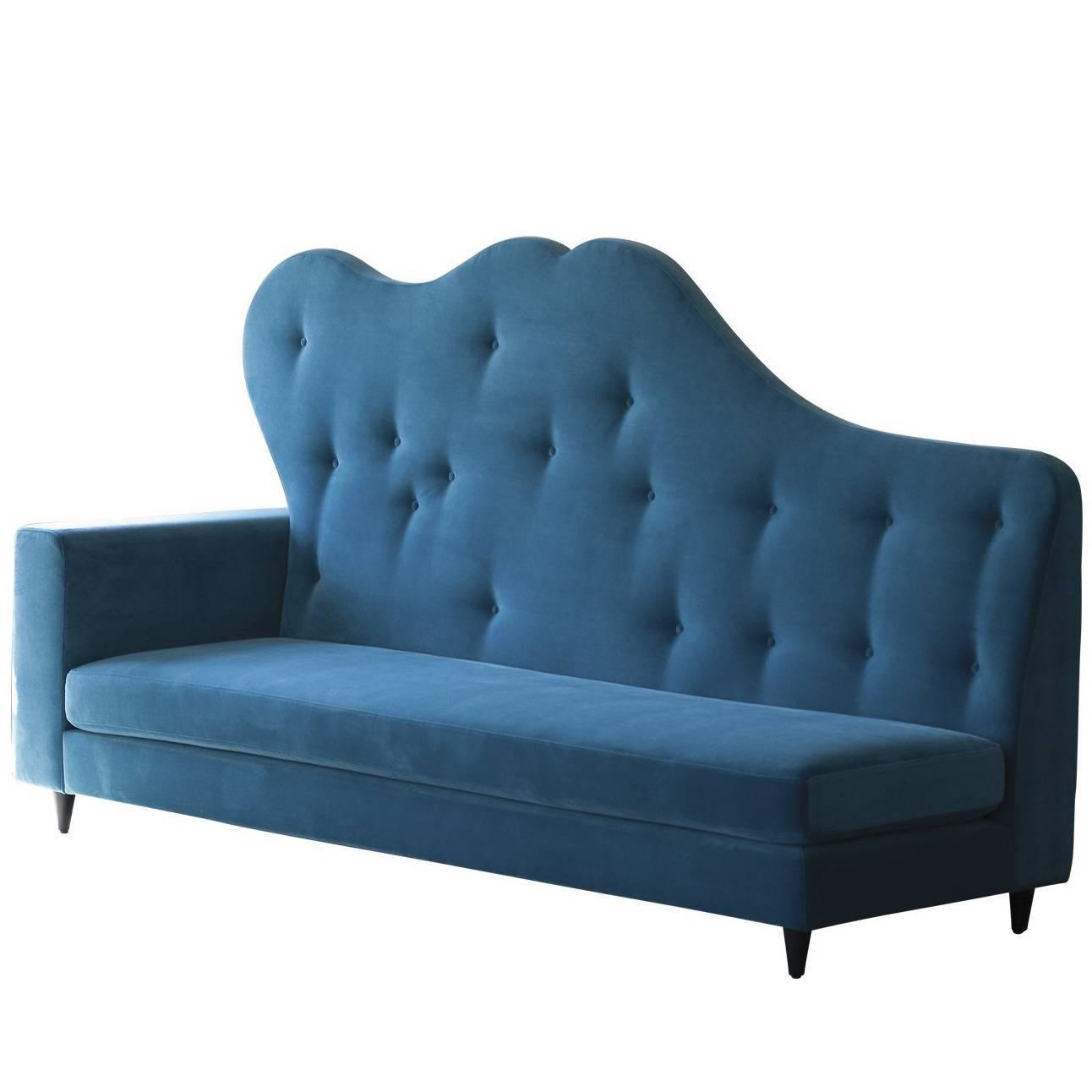 1940 s french salon sofa with original fringe upholstery at 1stdibs rh 1stdibs com beauty salon furniture sofa Small Sofa