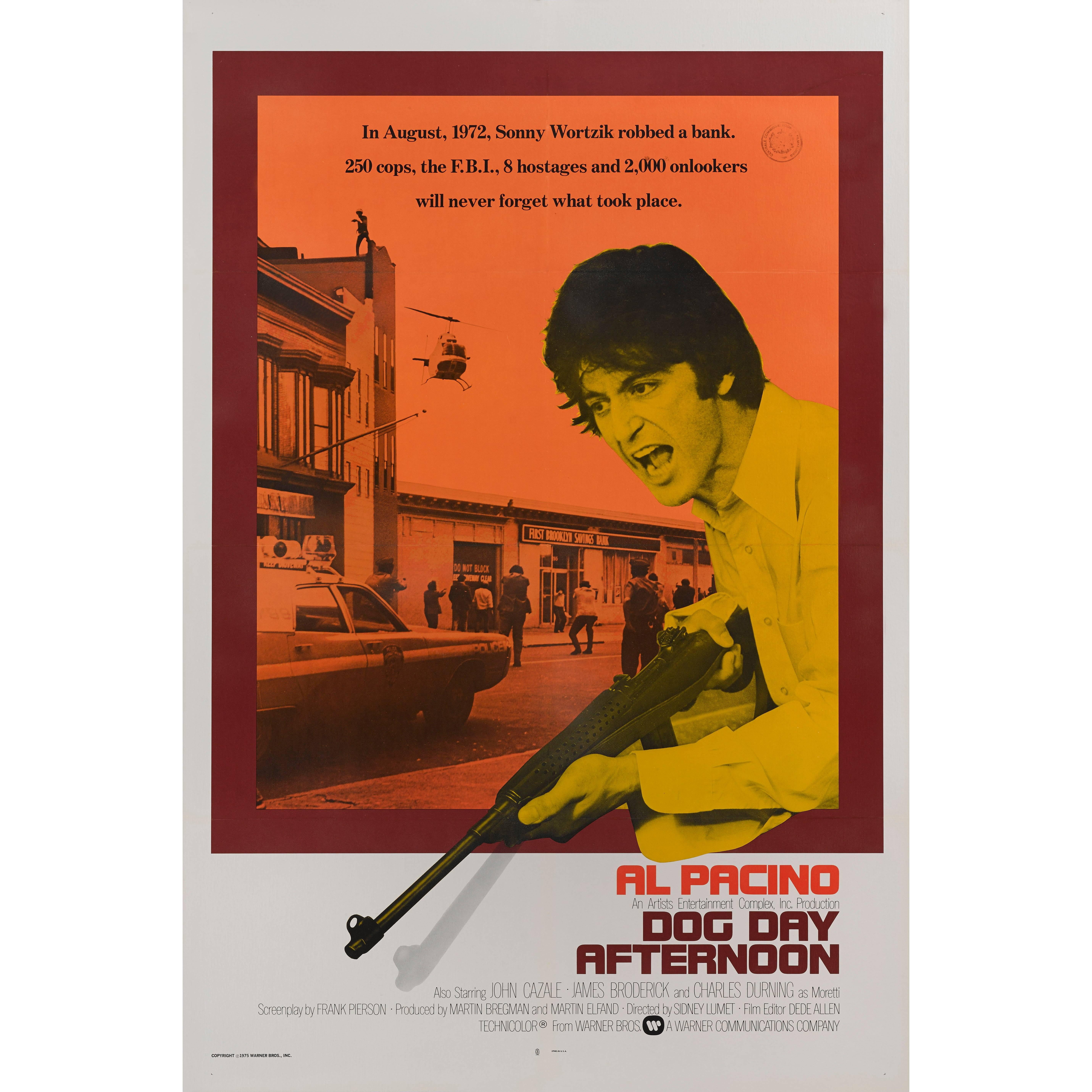 """Dog Day Afternoon"" Original International Style US Movie Poster"