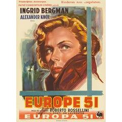 """Europe 51 / No Greater Love"" Original Belgium Movie Poster"