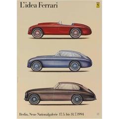 """L'idea Ferrari"" Italian Poster"