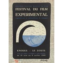 """Festival Du Film Experimental"" Original Belgian Poster"