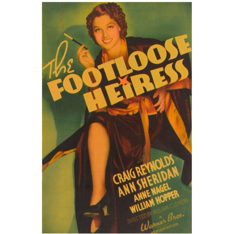 """The Footloose Heiress"" Original US Movie Poster For Sale"