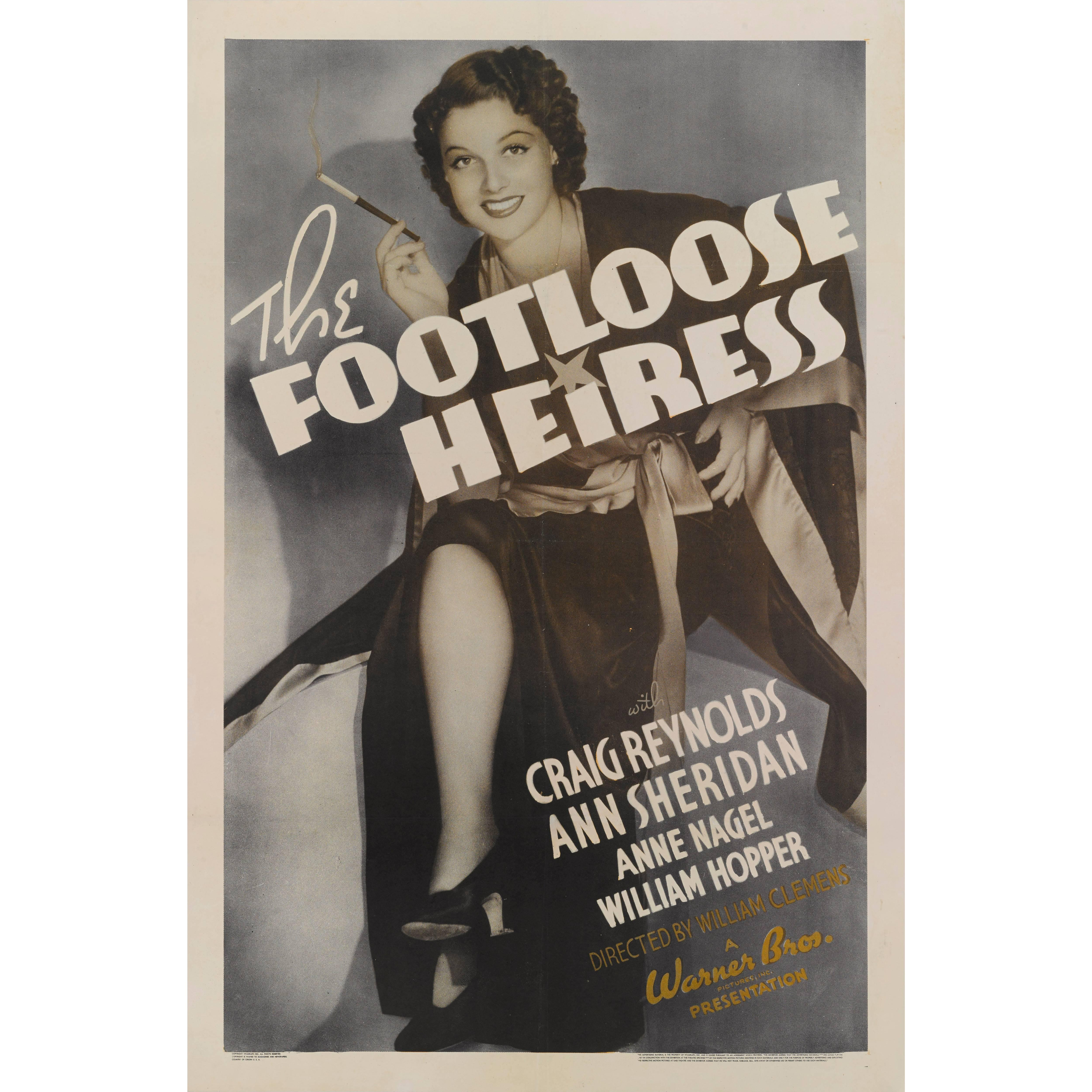"""The Footloose Heiress"" Original US Movie Poster"