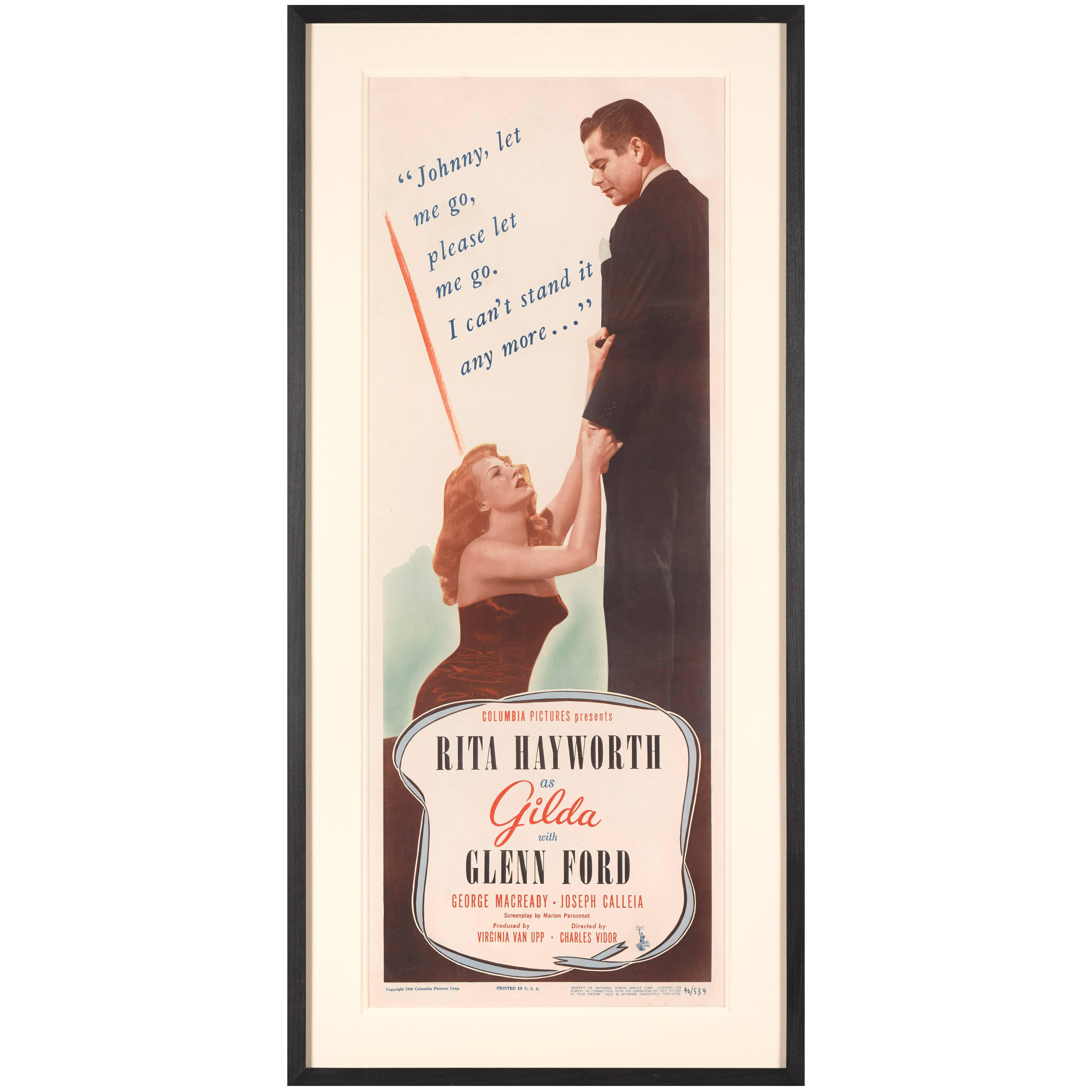 """Gilda"", Original US Movie Poster"