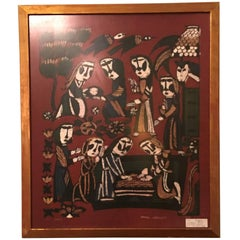 Sadao Watanabe Christmas Original Japanese Woodblock Print Dated 1964