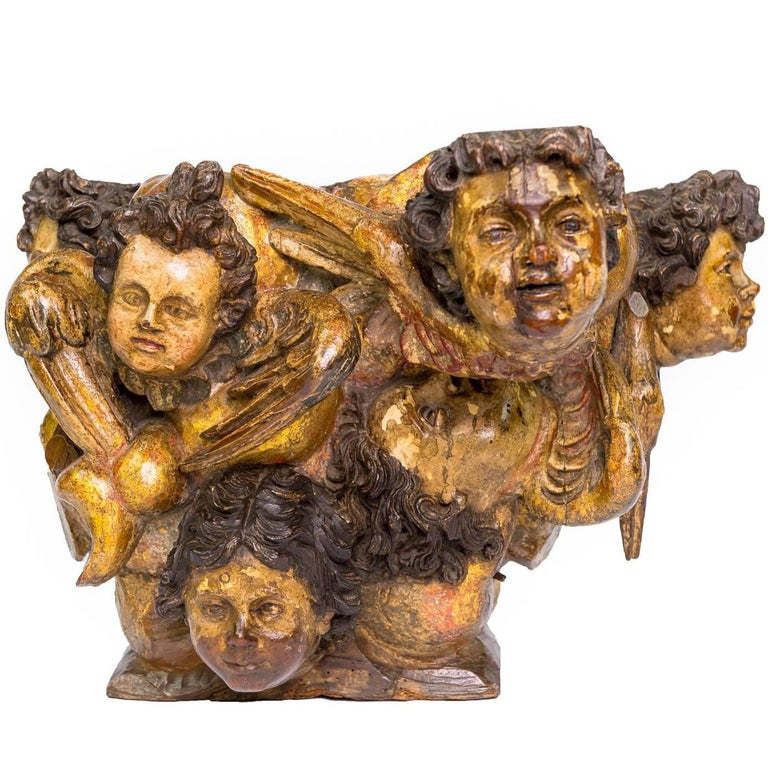 18th Century Putti Peana or Base for Sculpture