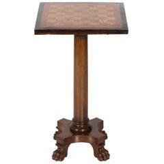 Checkerboard Pedestal Table