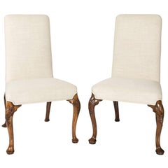 Pair of 18th Century Queen Ann Style Side Chairs