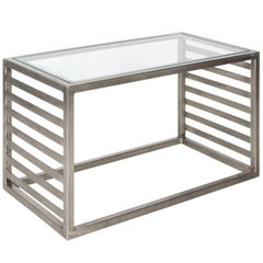 Industrial Steel and Glass Table