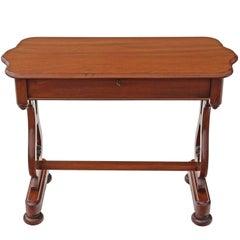 Antique Victorian circa 1860 Mahogany Writing Desk Library Centre Table