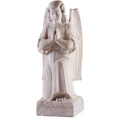 Angel, Marble Carrara, 19th Century