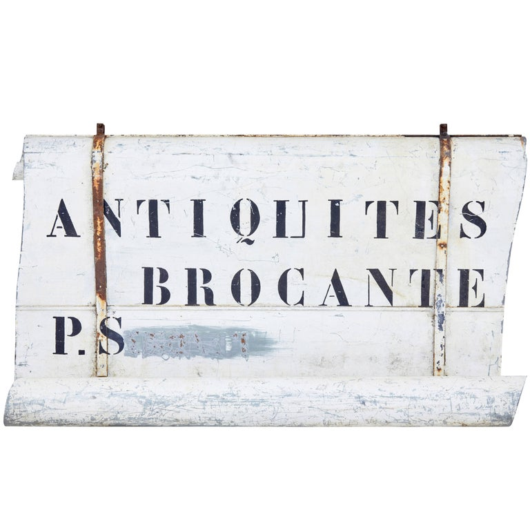 Early 20th Century French Antique Street Shop Sign For Sale