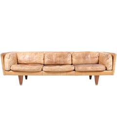 Sofa in Patinated Leather by Wikkelsø