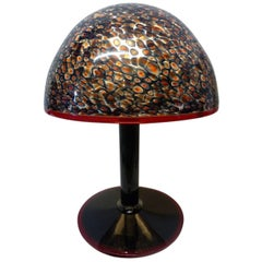 Murano Vistosi Table Lamp Designed by Gae Aulenti and Manufactured in Italy