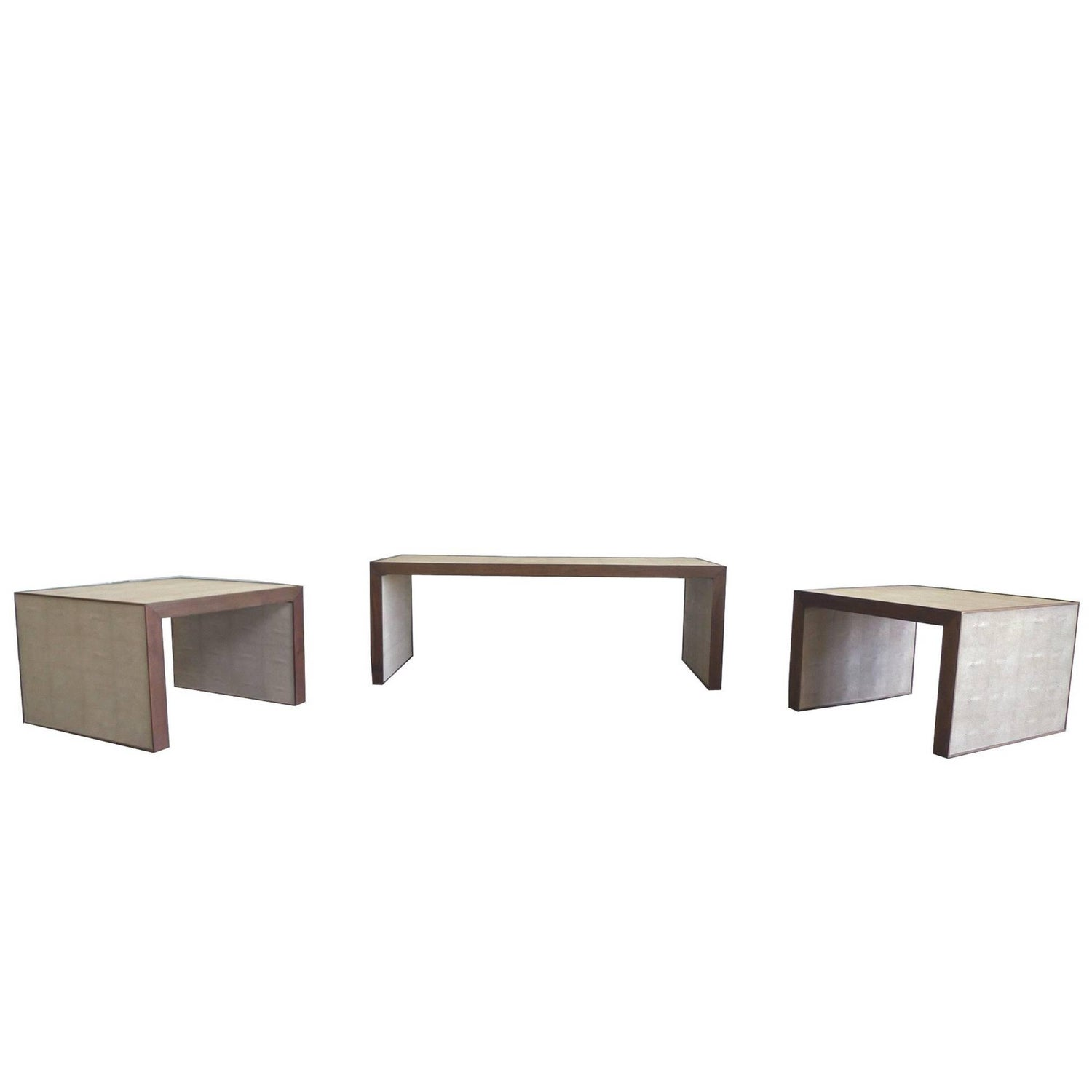 Set of Dwell Studios Nesting Coffee Table and Two Side Tables For