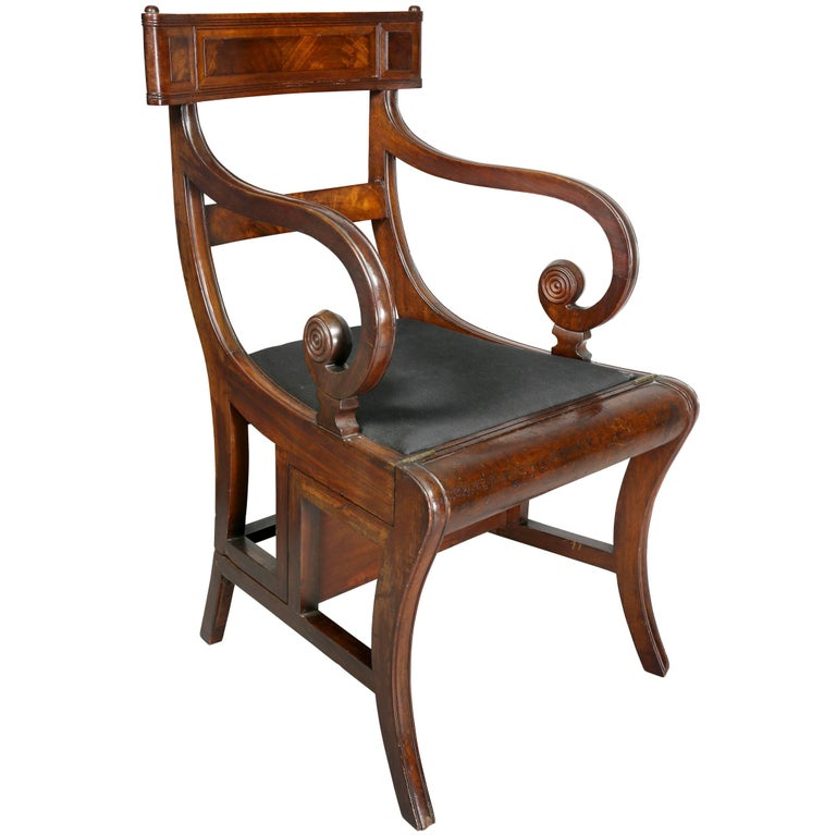 Regency Mahogany Metamorphic Armchair