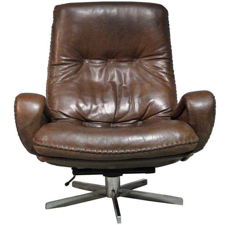 Vintage James Bond De Sede S231 Swivel Lounge Armchair, 1960s