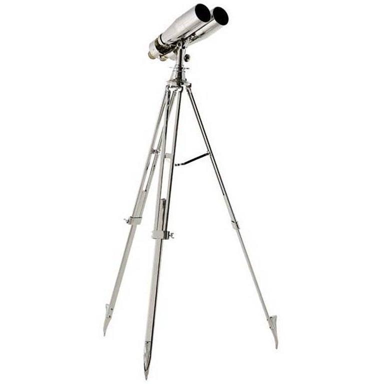 Navy Binoculars in Nickel Finish