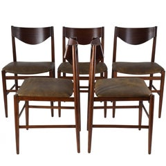 Italian Mid-Century Dining Chairs by Gianfranco Frattini, Set of 5, 1960s