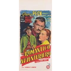 """The Gunfighter / Romantico Avventuriero"" Original Italian Movie Poster"
