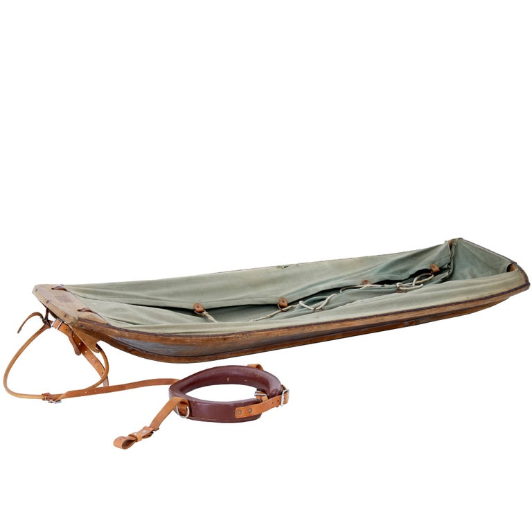 Early 20th Century Swedish Dog Tether and Sled