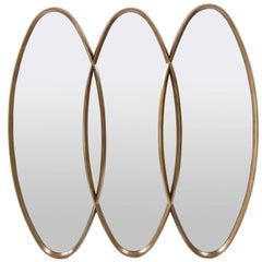 Gilt Triple Oval Mirror