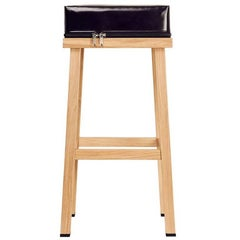 Visser and Meijwaard Truecolors High Stool in PVC Cloth with Zipper Detail