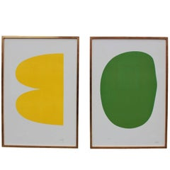 Two Lithographs by Ellsworth Kelly, Both 38/75
