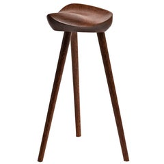 Contemporary Design Three Legged Stool in Tropical Brazilian Hardwood