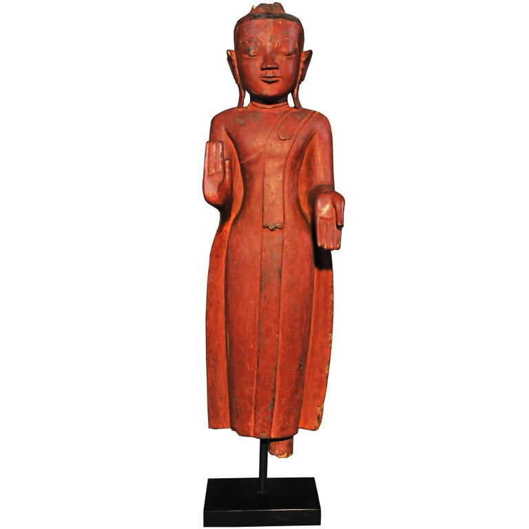 16th Century, Standing Buddha in Vitarka Mudra, Pagan Period, Art of Burma