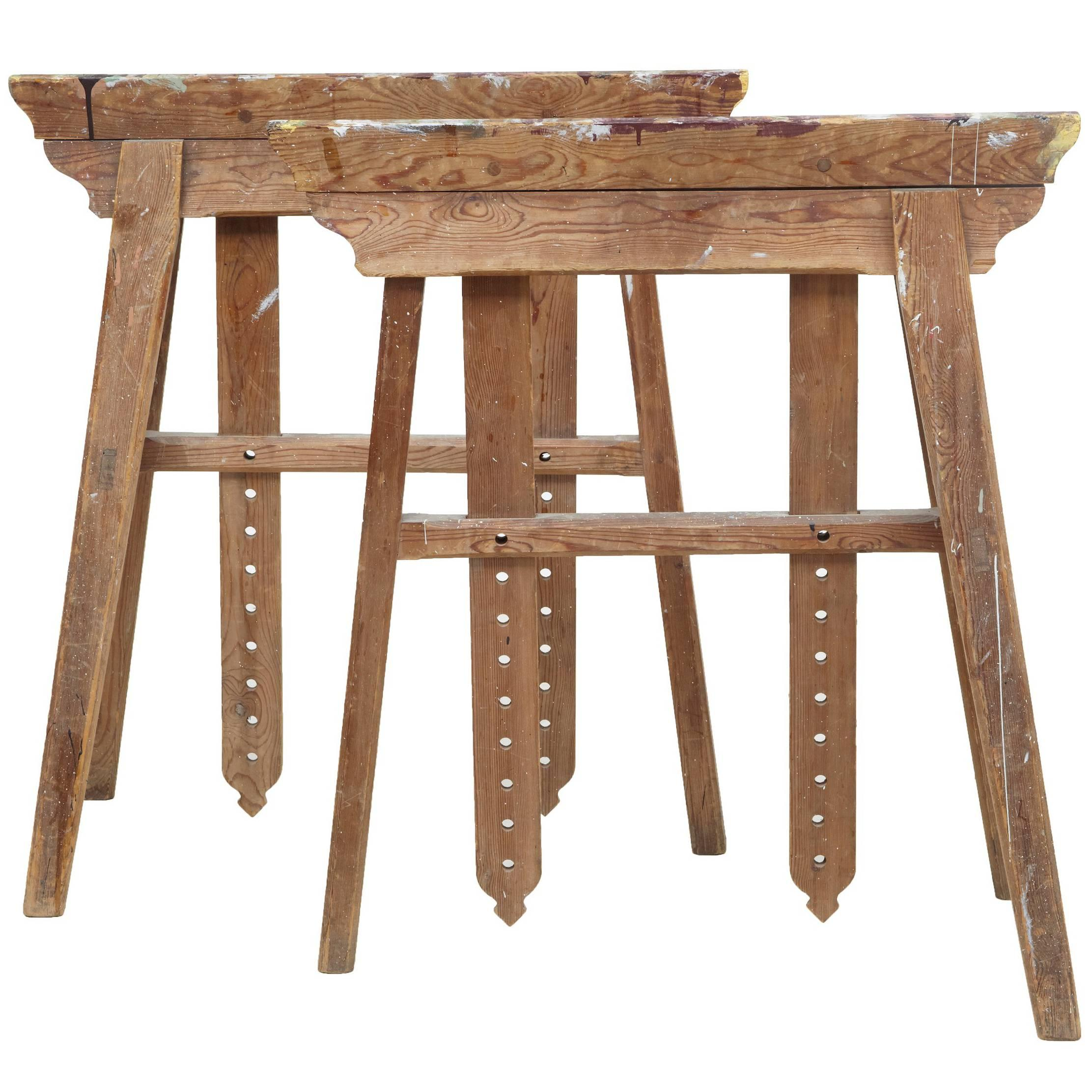 Quality Pair Of Early 20th Century Trestle Table Bases For Sale
