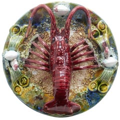 20th Century Decorative Palissy Lobster Plate